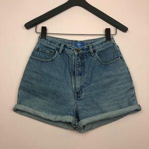Vintage B.e. Blues High Rise Denim Shorts Sz 9